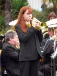 Heyl Band at Exmouth Entertainment Contest 2009 Present our Principle Cornet player Sharon Hollywood