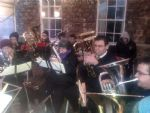 Heyl Town Band Christmas Carolling at Trereife Christmas Fair