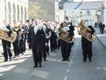 Heyl Town Band Marching in Camborne for Trevithick Day 2013