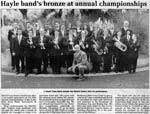Hayle Bands Bronze at Annual Championships