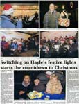Turning on of Hayle's Christmas Lights